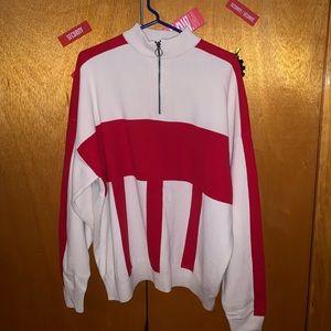 Zara zip up turtle neck sweater size XL